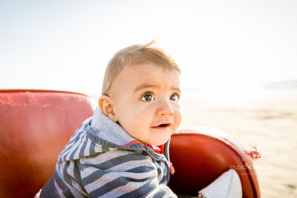 Photos de famille à la plage des aresquiers entre Montpellier et Sète. Bon cadeau photo & studio photo à Montpellier