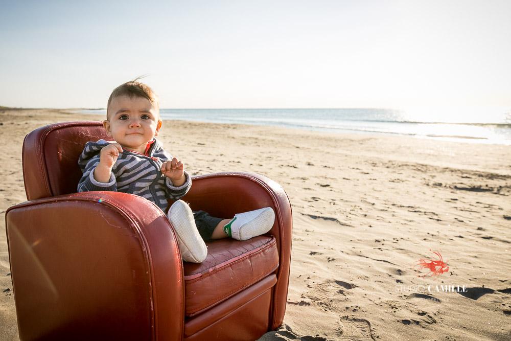 portrait enfant plage Montpellier Hérault