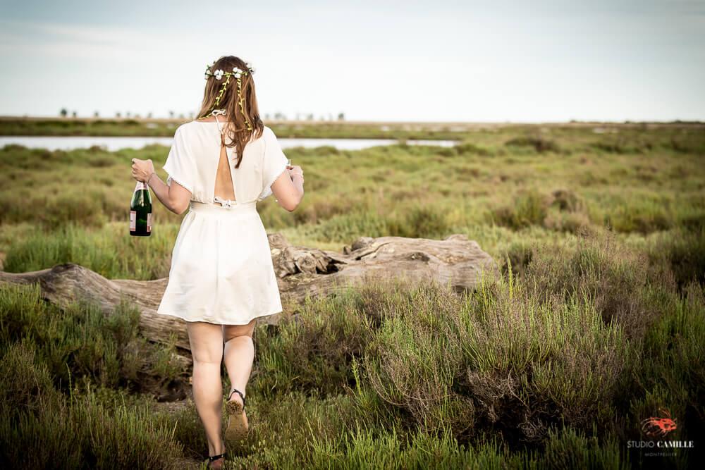 Shooting photo EVJF palavas plage carnon montpellier